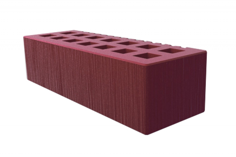 Облицовочный, керамический одинарный кирпич с фаской