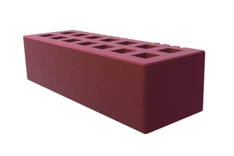 Облицовочный, гладкий,  керамический одинарный кирпич